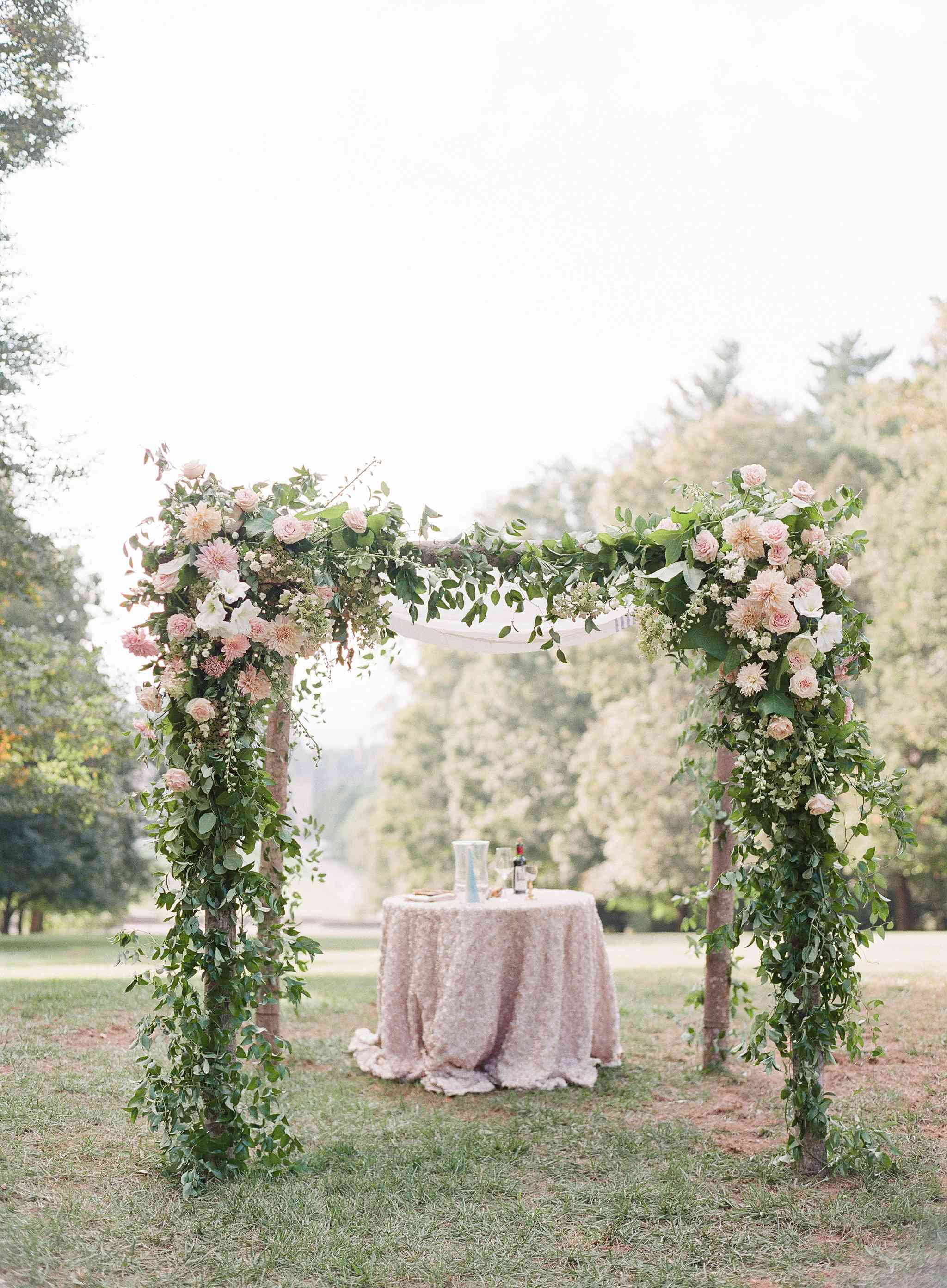 Floral-Covered Chuppah