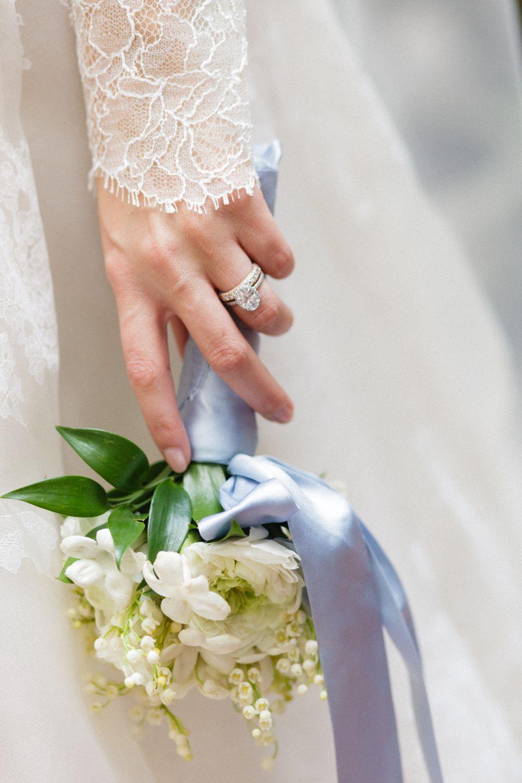 <p>Bride holding bouquet</p><br><br>