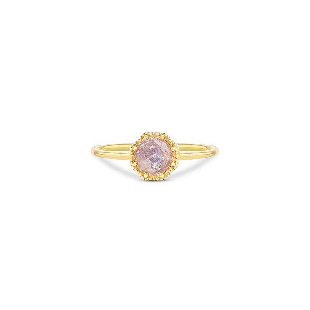Grace Lee Crown Bezel Moonstone Ring