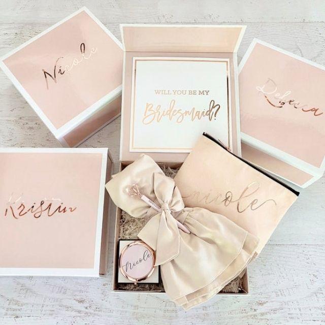 ModParty Pink Bridesmaid Gift Box