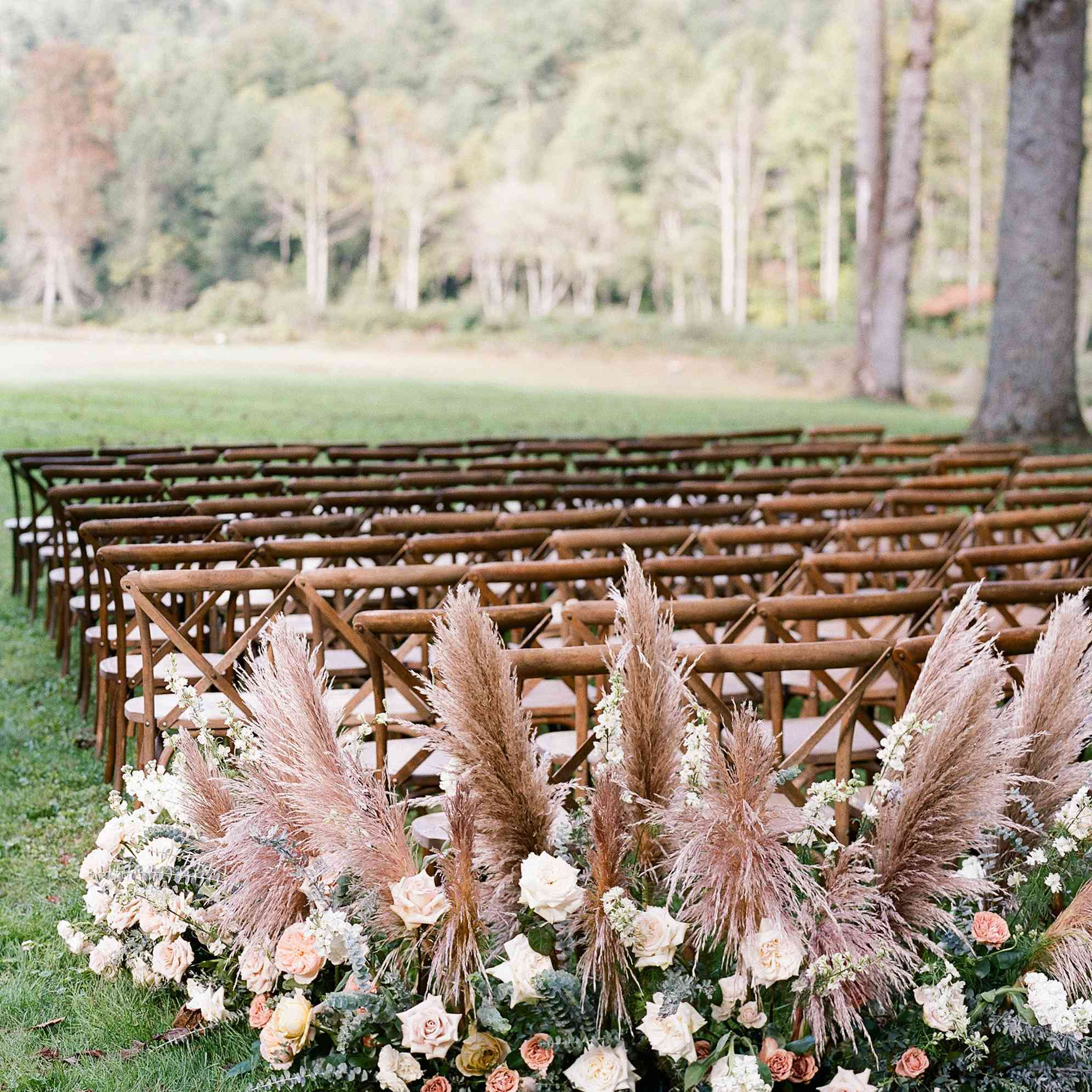 ceremony flowers pampas grass