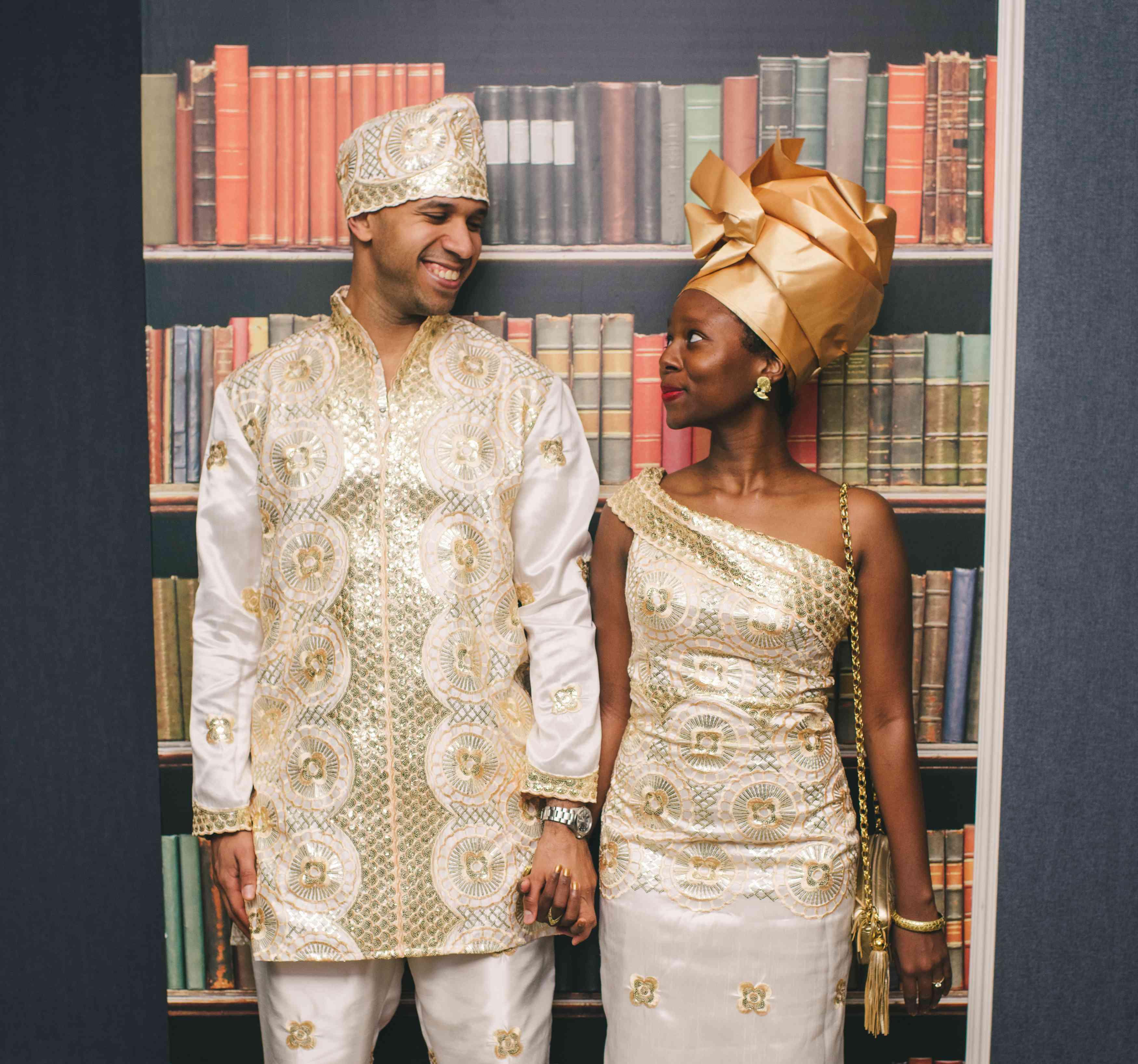 Bride and Groom in Liberian Attire