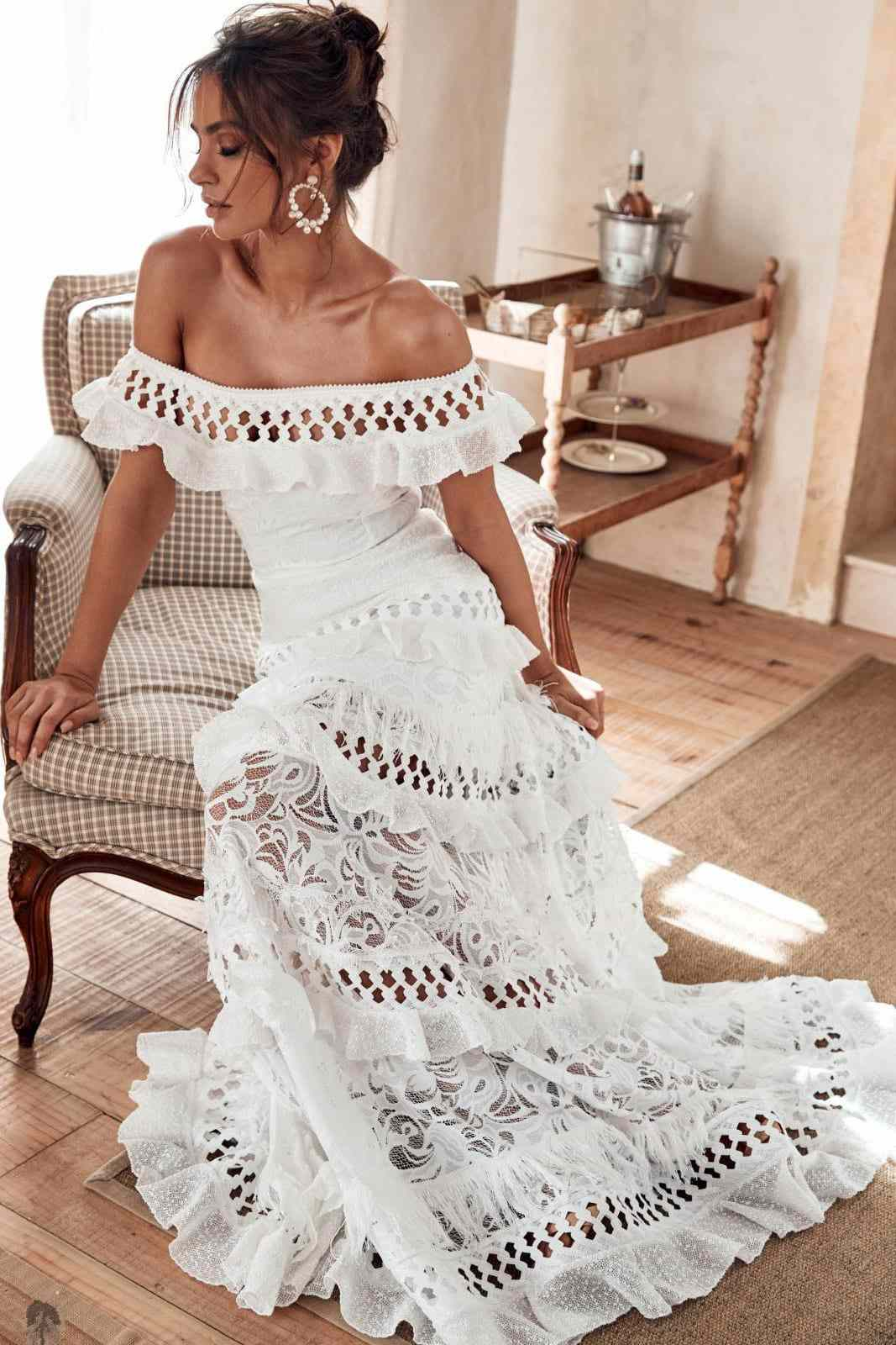 Grace Loves Lace Off-the-Shoulder Coco Gown