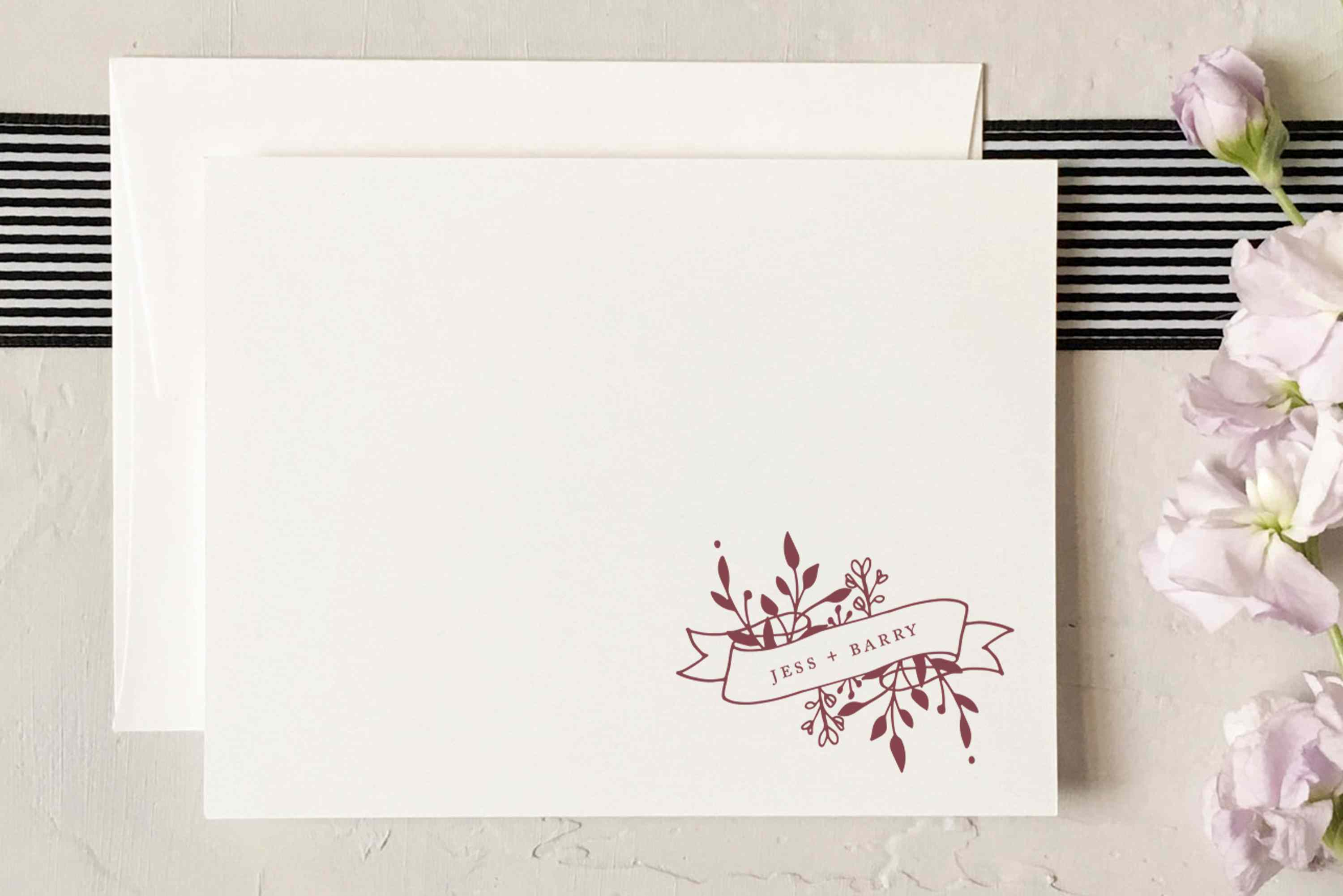 Couples Note Cards Couples Personalized Stationery Wedding Thank You Notes Gift Personalized Folded Note Cards Couples Thank You Notes