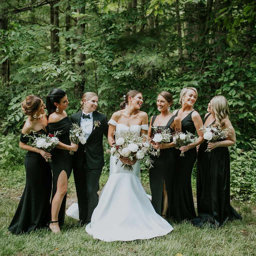 Portrait of the bridal party