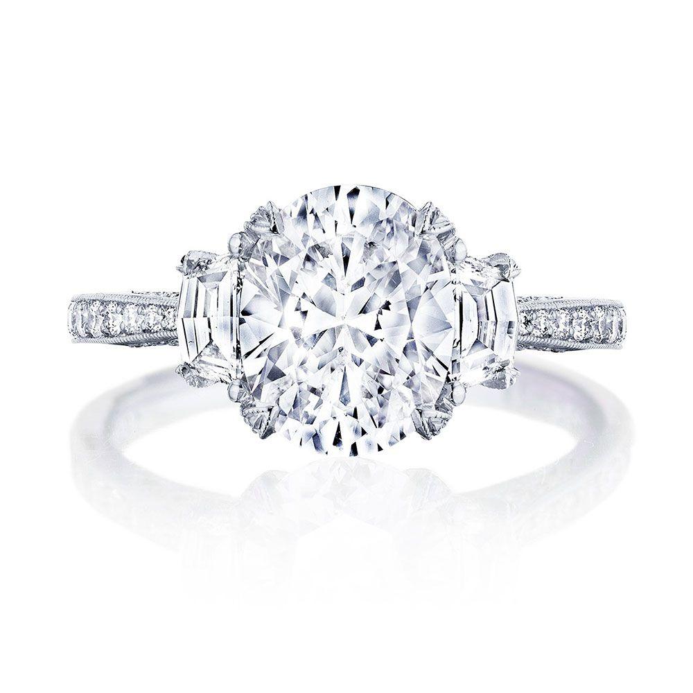 Tacori Oval-Cut Diamond Engagement Ring