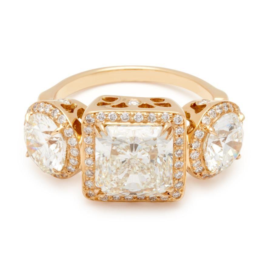 Anna Sheffield Astarte Ring 18K Yellow Gold & White Diamond Ring
