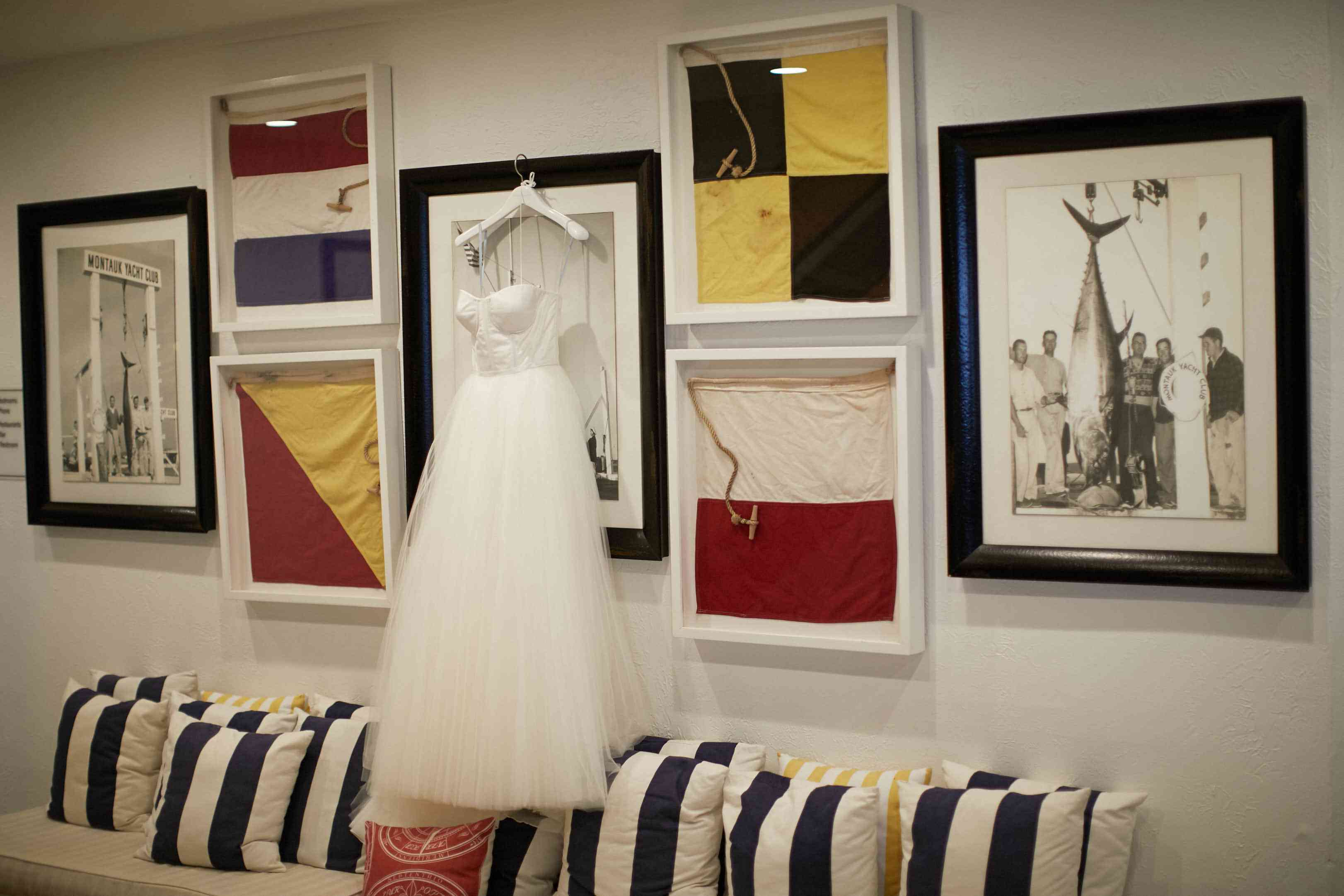 <p>Wedding Dress on Hanger</p><br><br>