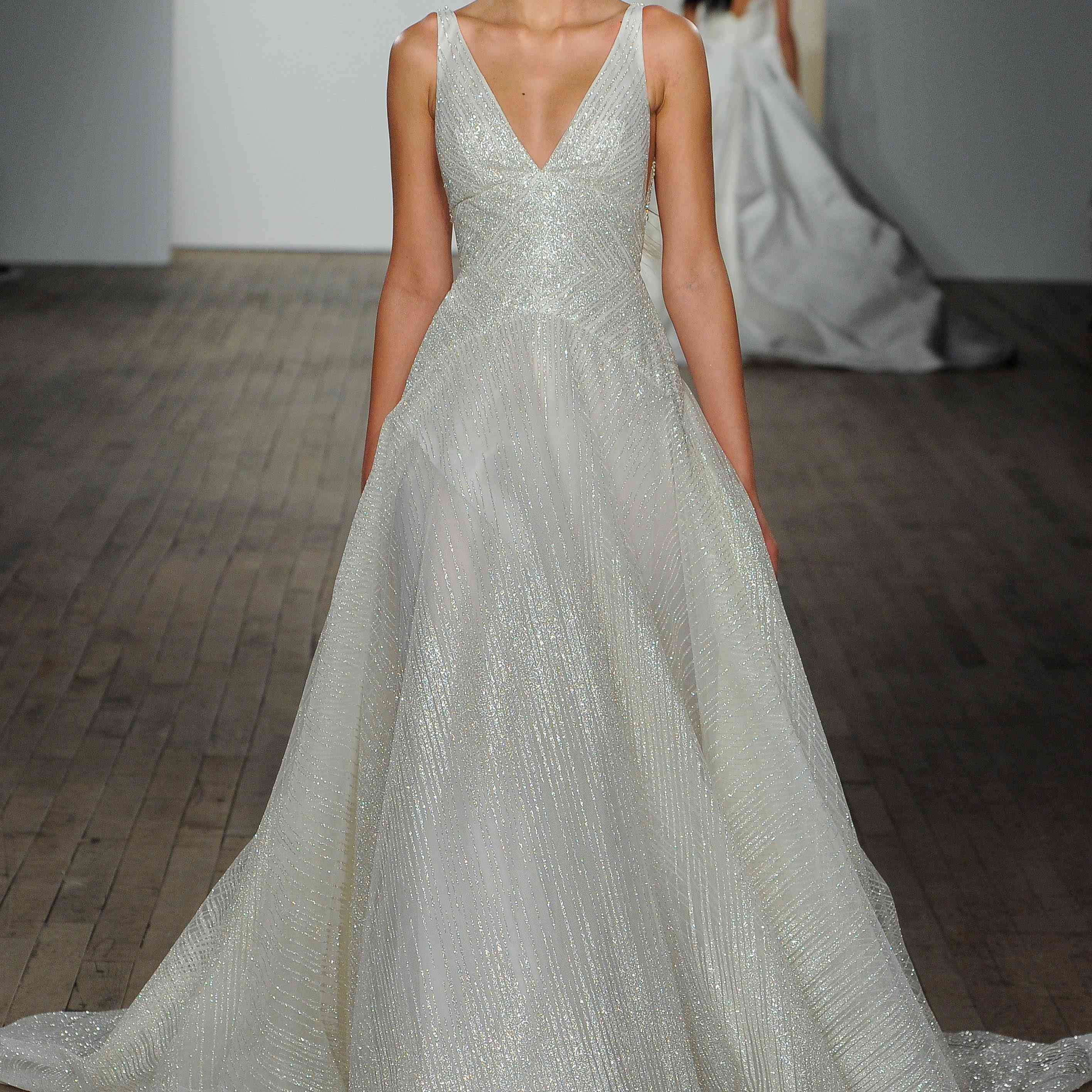 Celeste plunging wedding dress by lazaro