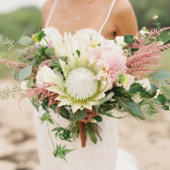 A Single Bloom Protea Bouquet: King Protea Bridal Bouquets That Are Crazy Striking