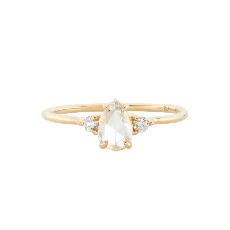 Catbird Leda the Swan Diamonds Pear-Shaped Ring