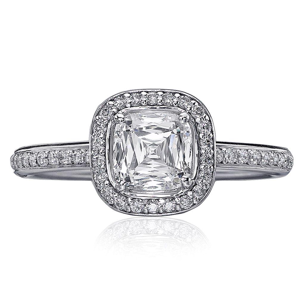 Christopher Designs Cushion-Cut Diamond Engagement Ring