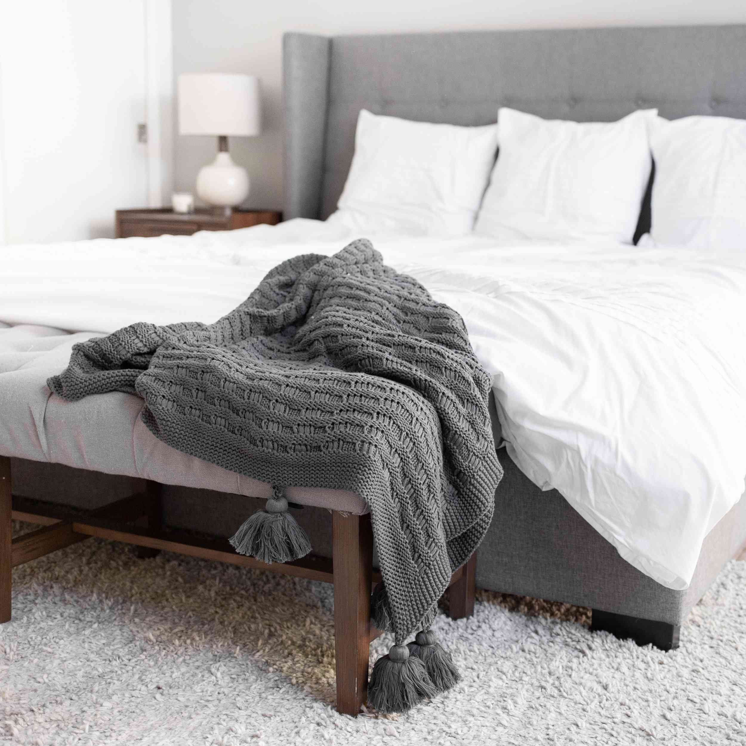 Domain by Laura Hodges Studio Organic Cotton Knit Throw Blanket