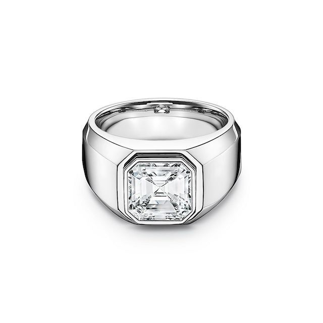 Tiffany and Co. Wide Band Engagement Ring