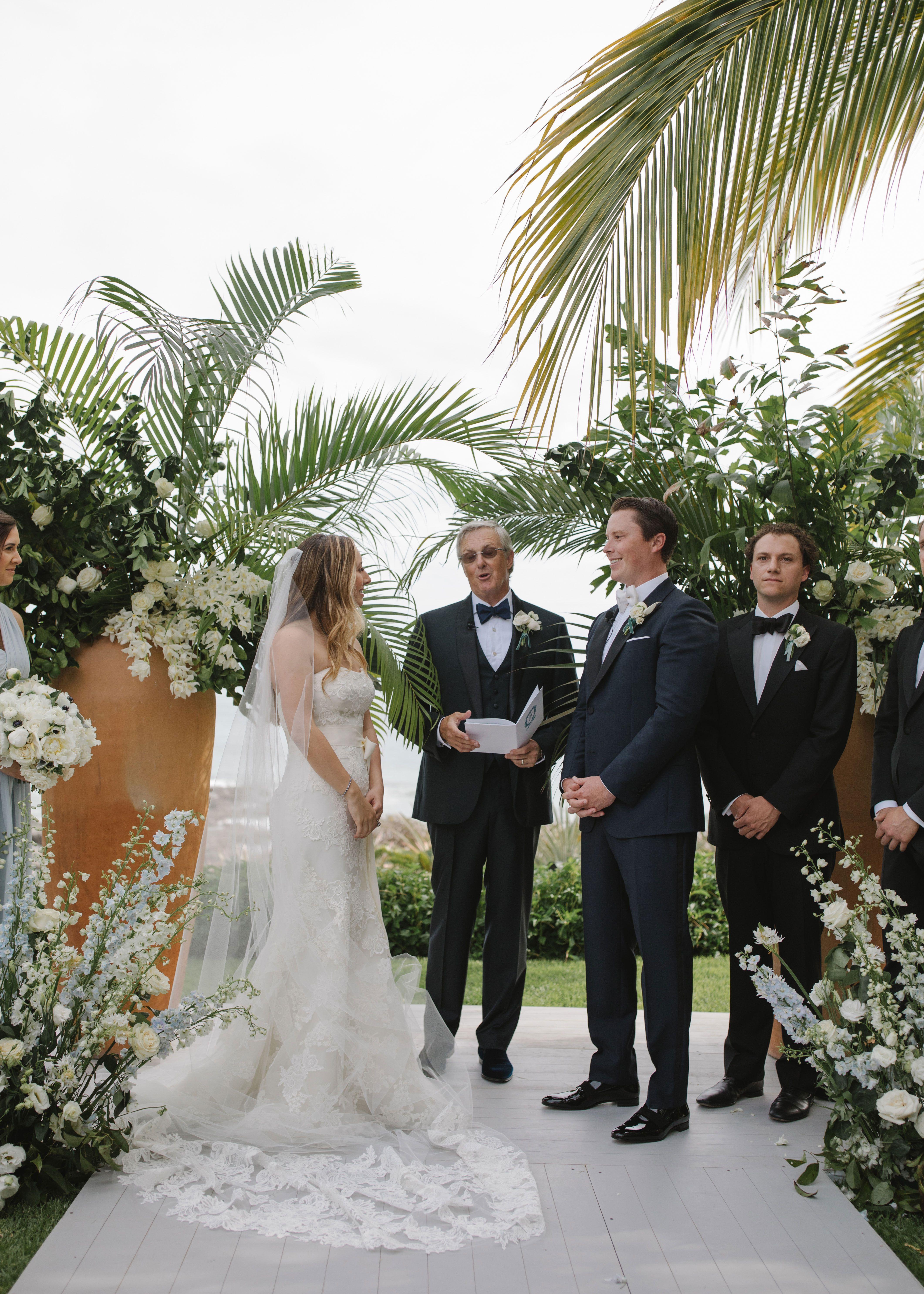 An Elegant Beach Wedding At Home In Punta Mita Mexico
