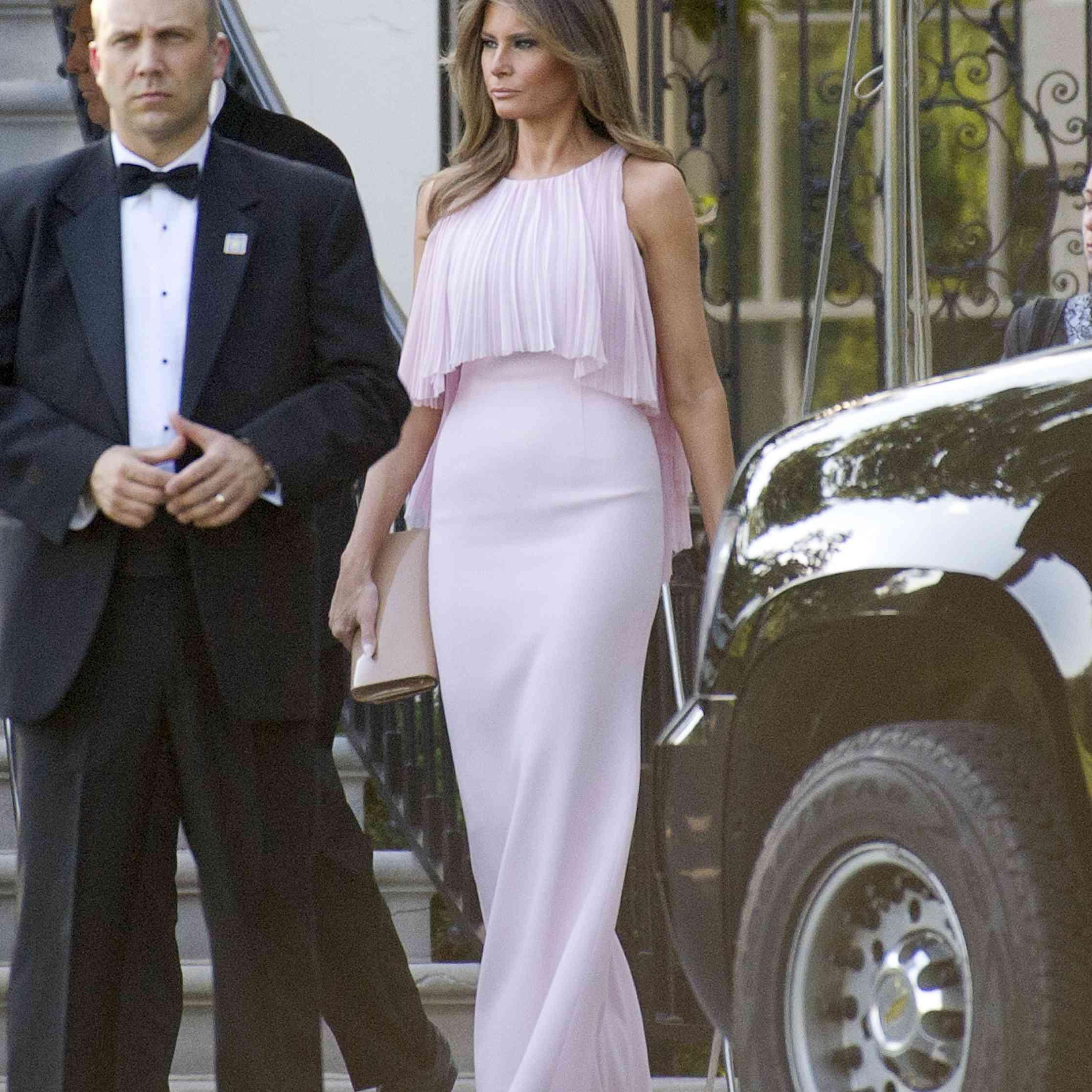 Donald Trump And Melania Wedding: Donald Trump And Melania Attended Treasury Secretary