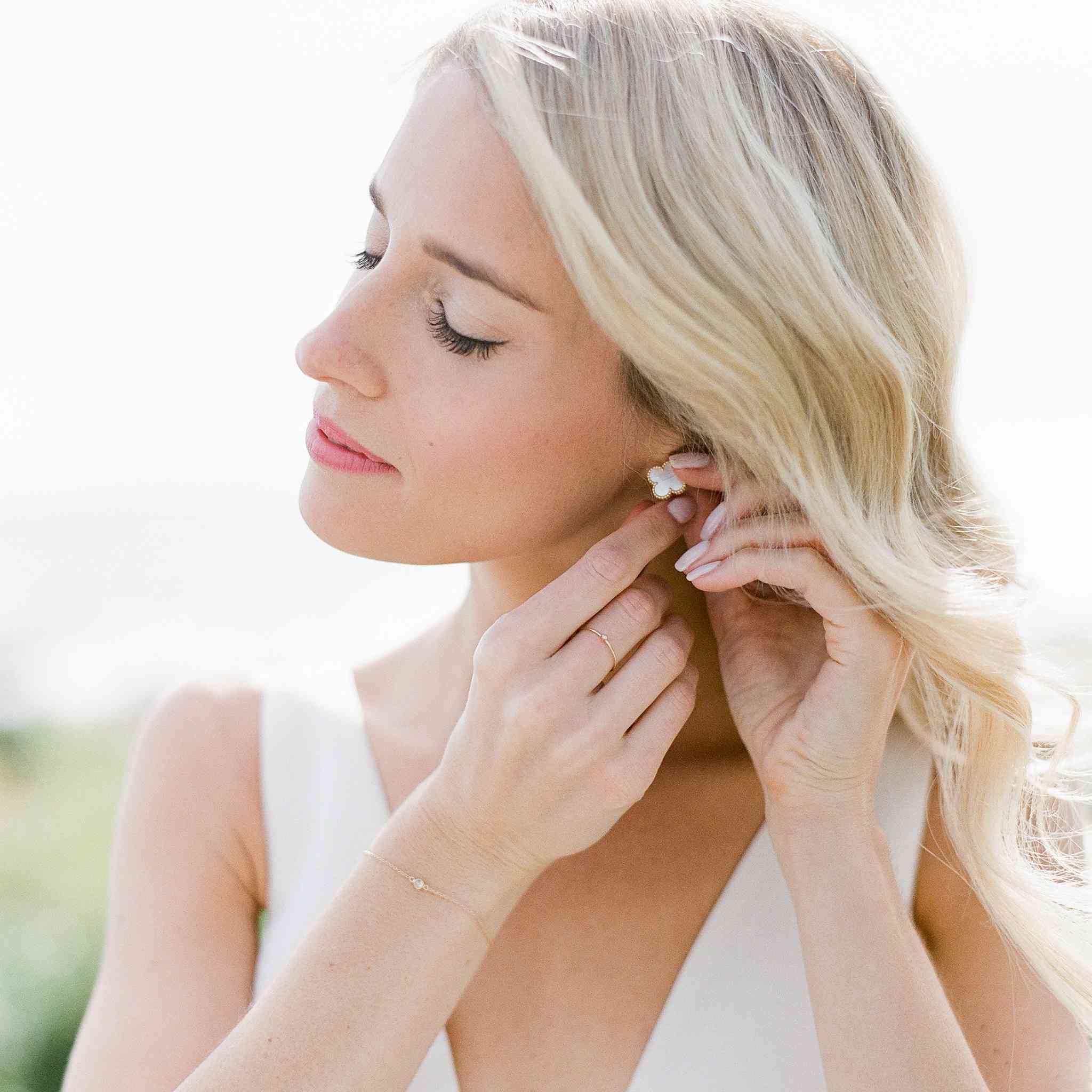 Van Cleef & Arpels earrings bridal jewelry