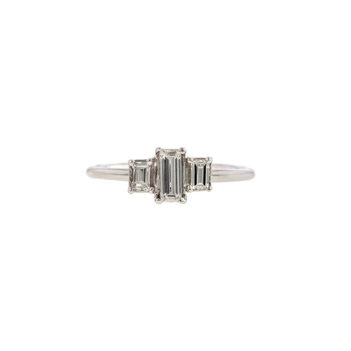 Doyle & Doyle Estate Baguette Cut Diamond Ring, Baguette 0.22ct