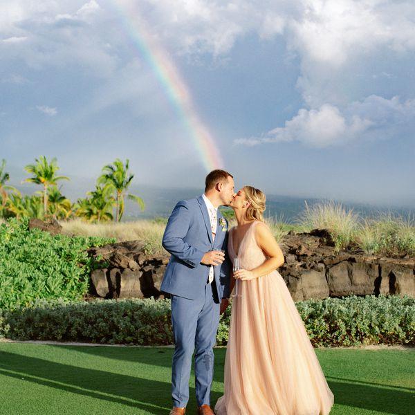 Tyler Wilder and Caitlin Mouton were married at Kohanaiki on Hawaii's Big Island.