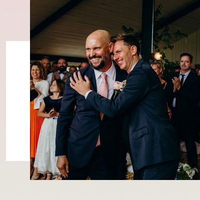 grooms at altar