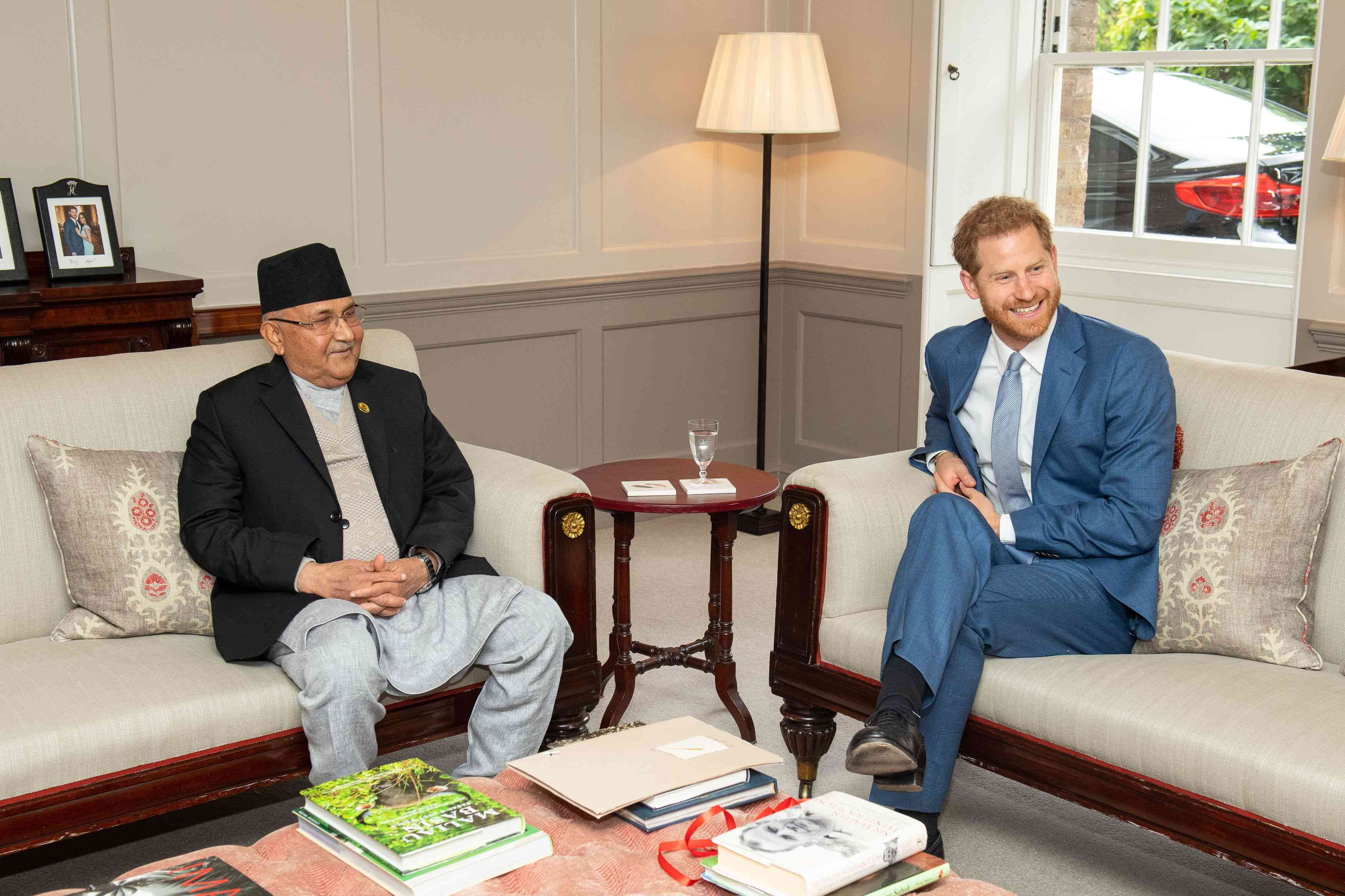 Prince Harry, Duke of Sussex meets the Prime Minister of Nepal KP Sharma Oli