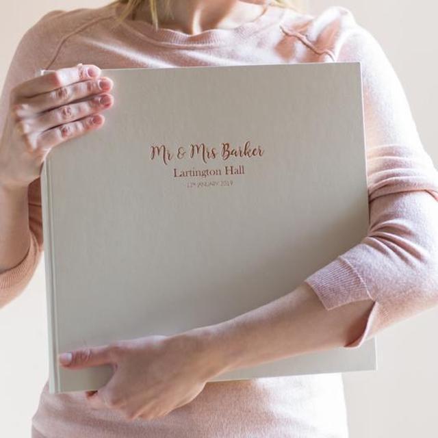 Be Golden Beautiful Large Wedding Album with Bespoke Printing