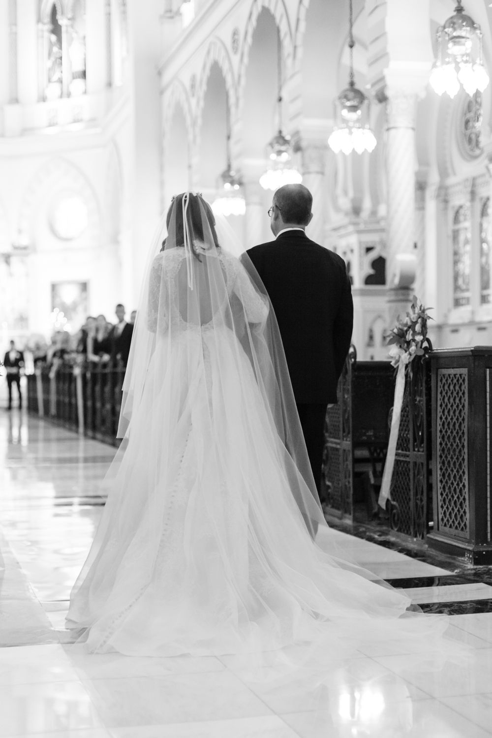 <p>Bride and groom down aisle</p><br><br>