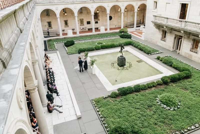 Wedding in the Courtyard at Boston Public Library