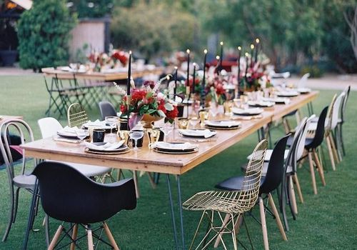 Table Setup With Different Chairs