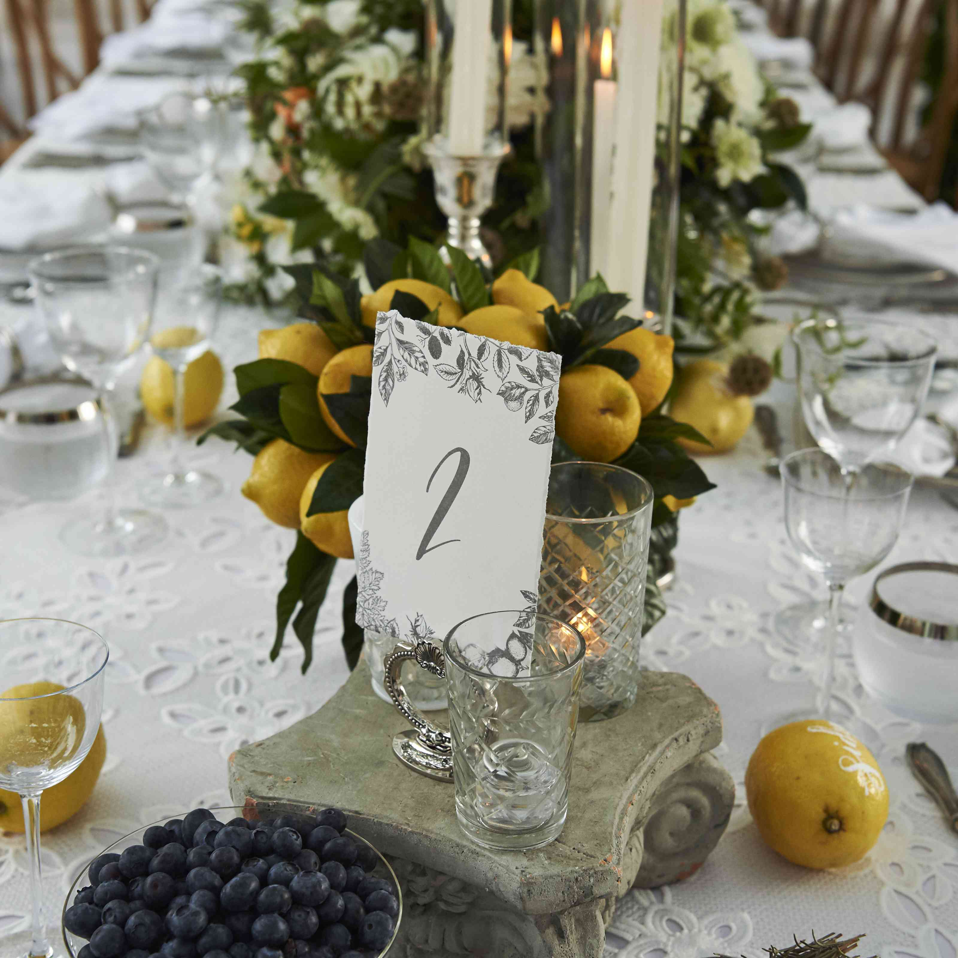 Table with Lemons