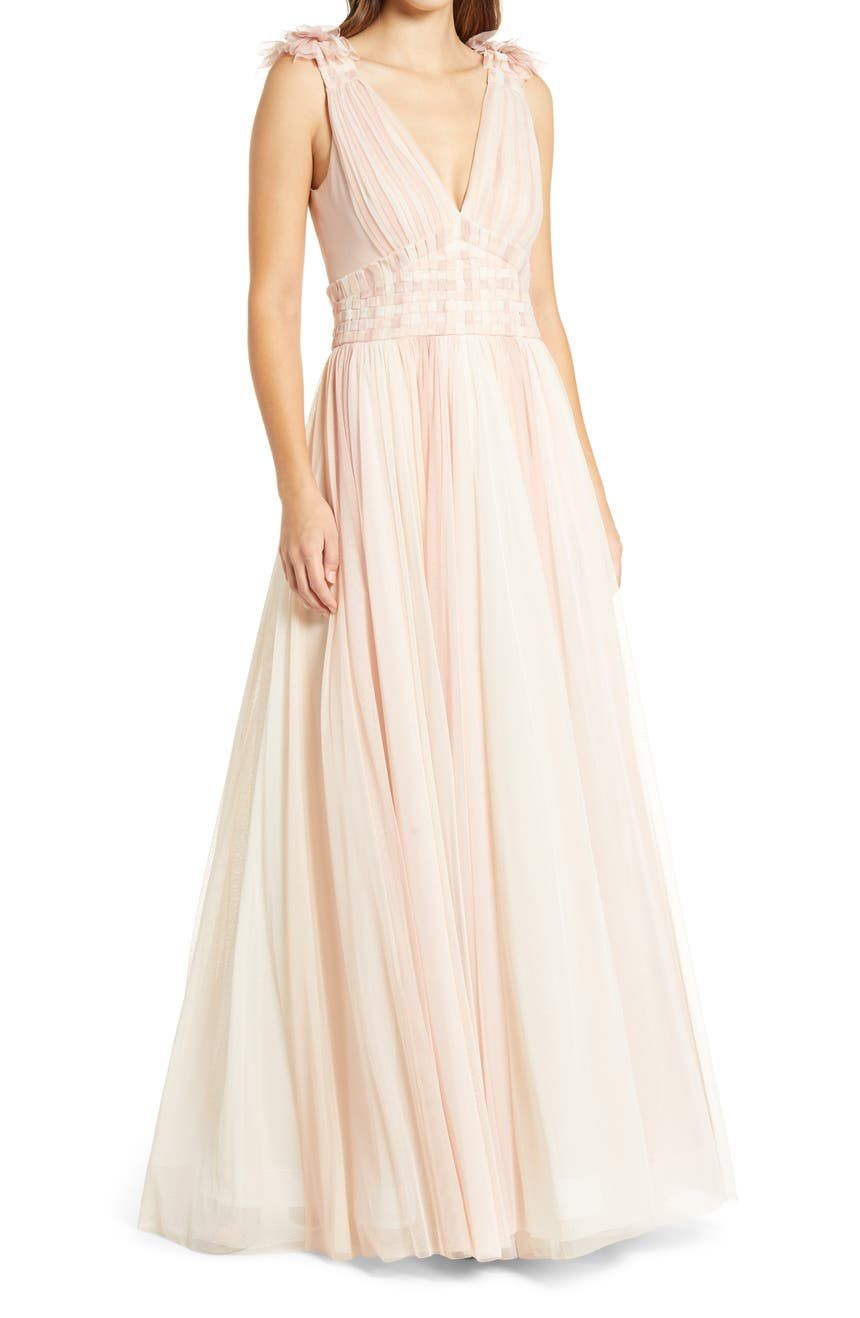 tulle bridal party dresses