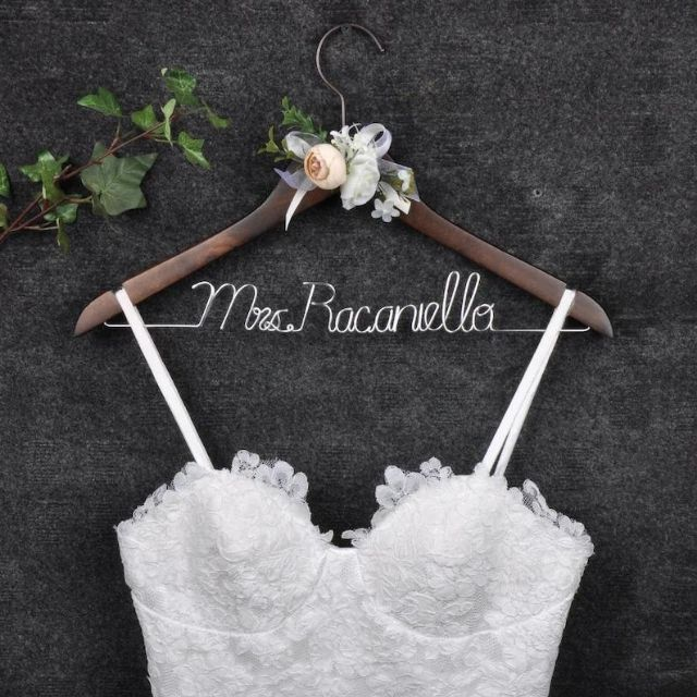 JohnsonCraftStudio Personalized Wedding Hanger