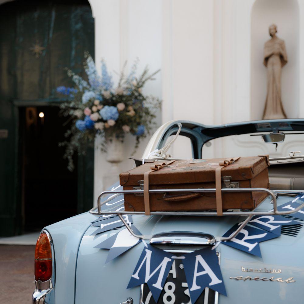 Blue Getaway Car