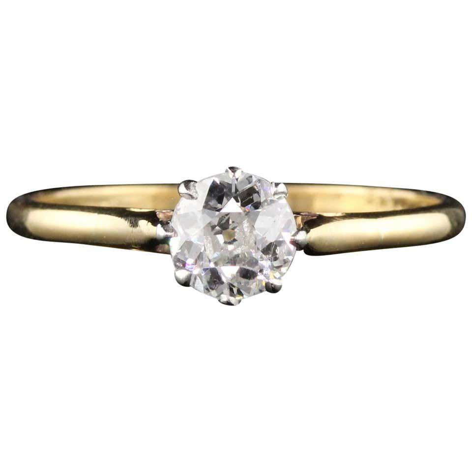 1stdibs Antique Edwardian Solitaire Diamond Ring