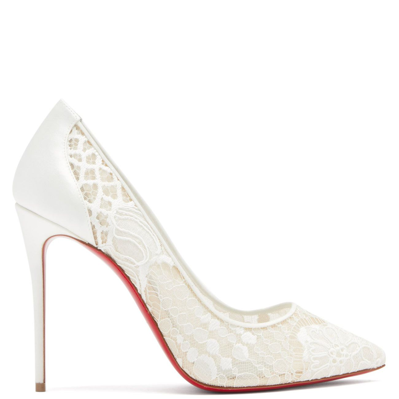 lace white shoe