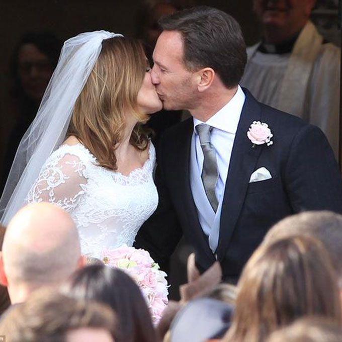 Geri Halliwell marries Christian Horner in Sarah Burton for Alexander McQueen, 2015