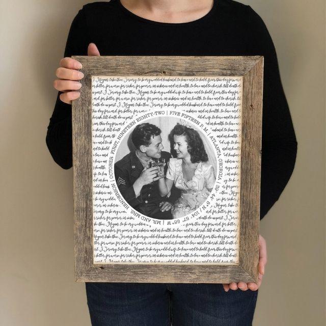 BasketfulOfGrace Wedding Vow Picture Frame