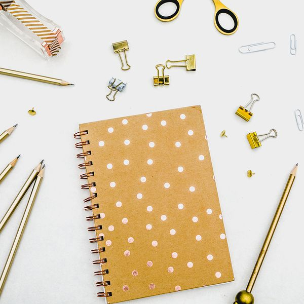 image of notebook, stationary supplies