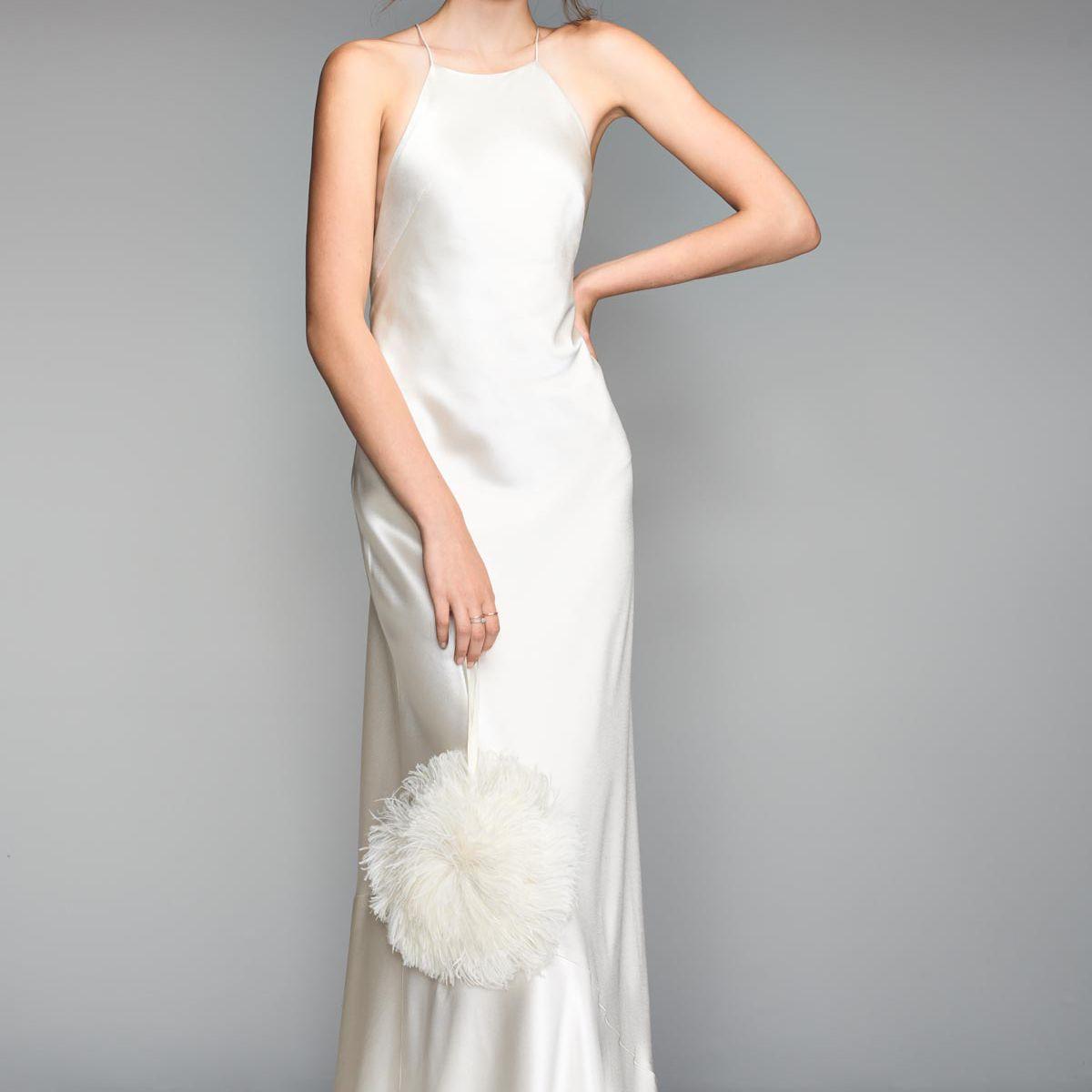 minimalist wedding gown