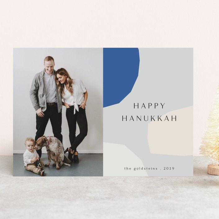 Minted Hanukkah Shapes Card