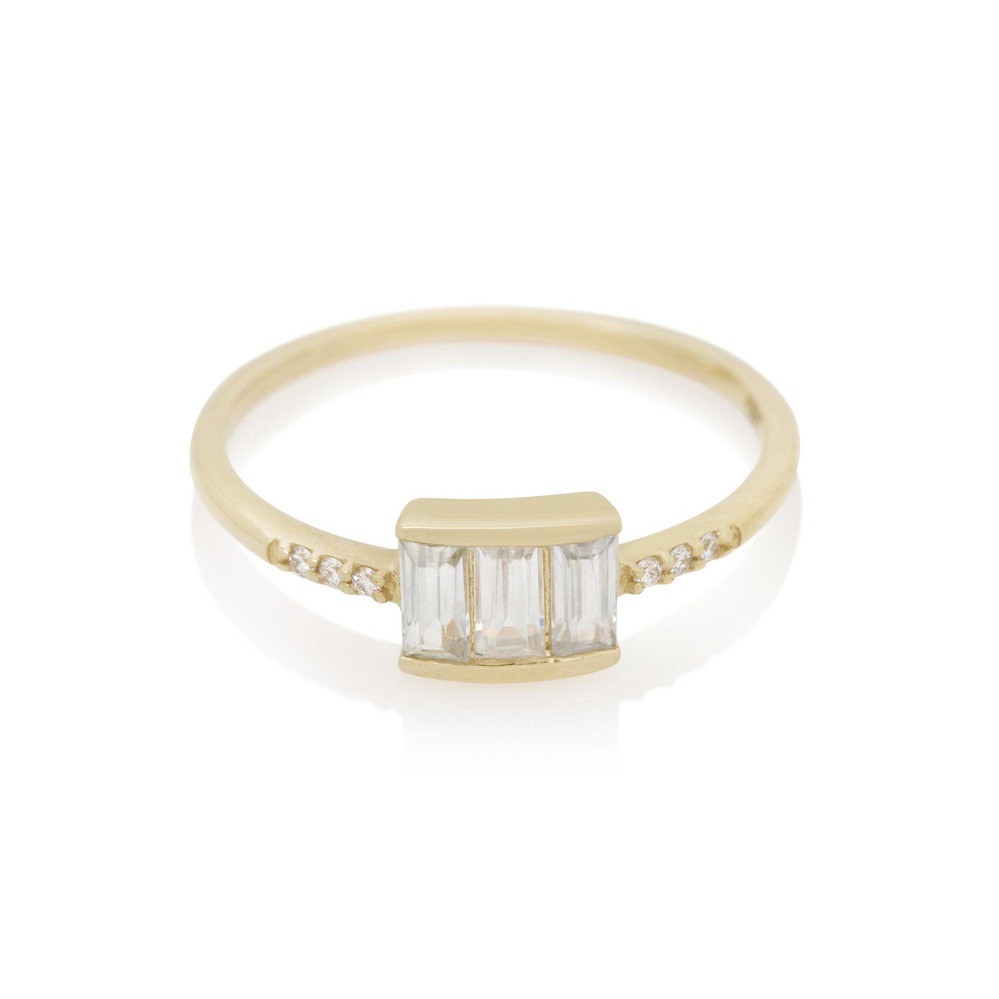 La Kaiser White Diamond and Topaz Le Marais Ring