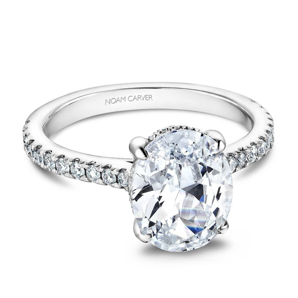 Noam Carver Cathedral Diamond Engagement Ring Setting