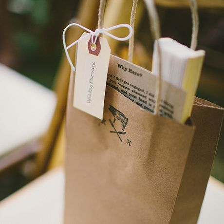 brown paper welcome bag