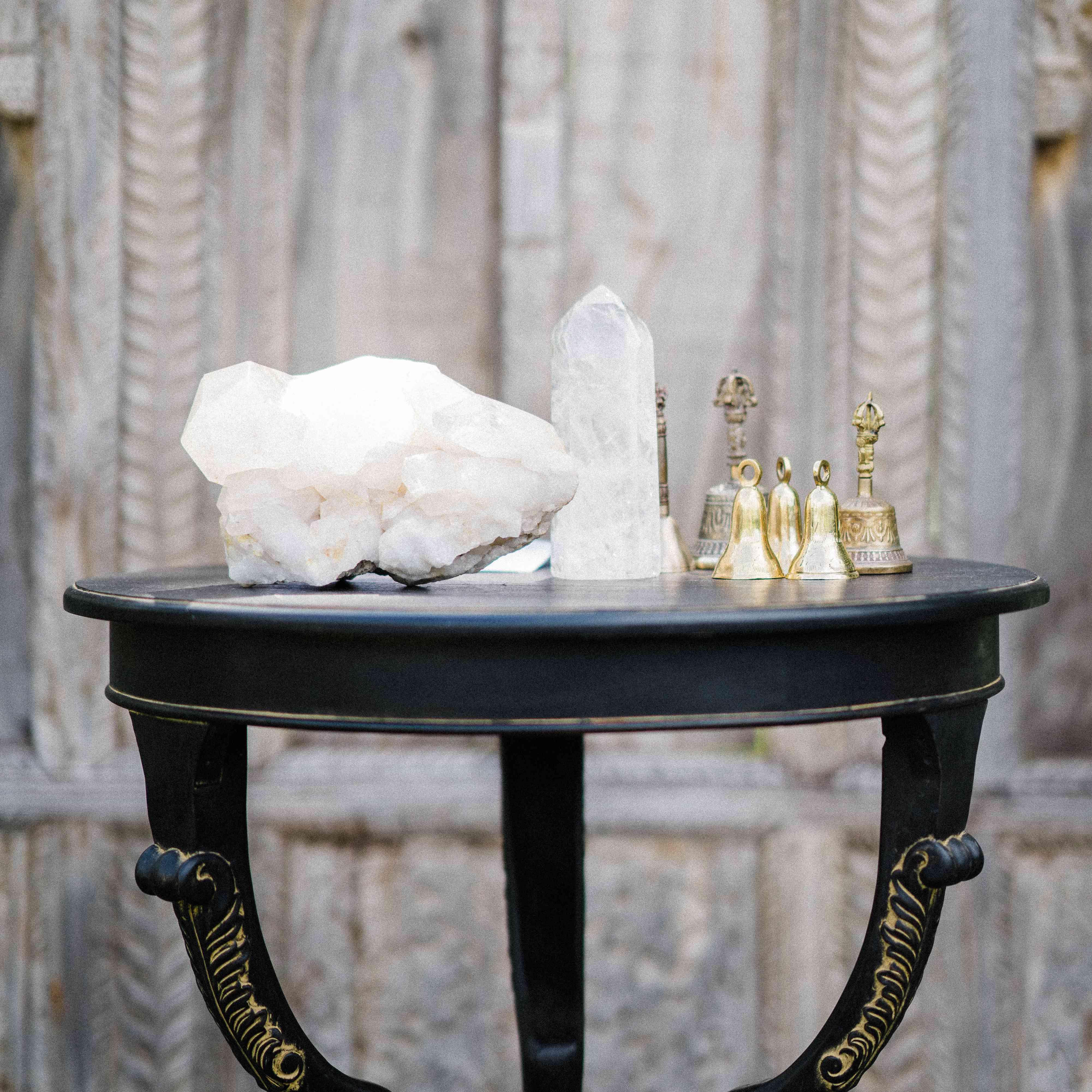 Bells and crystals