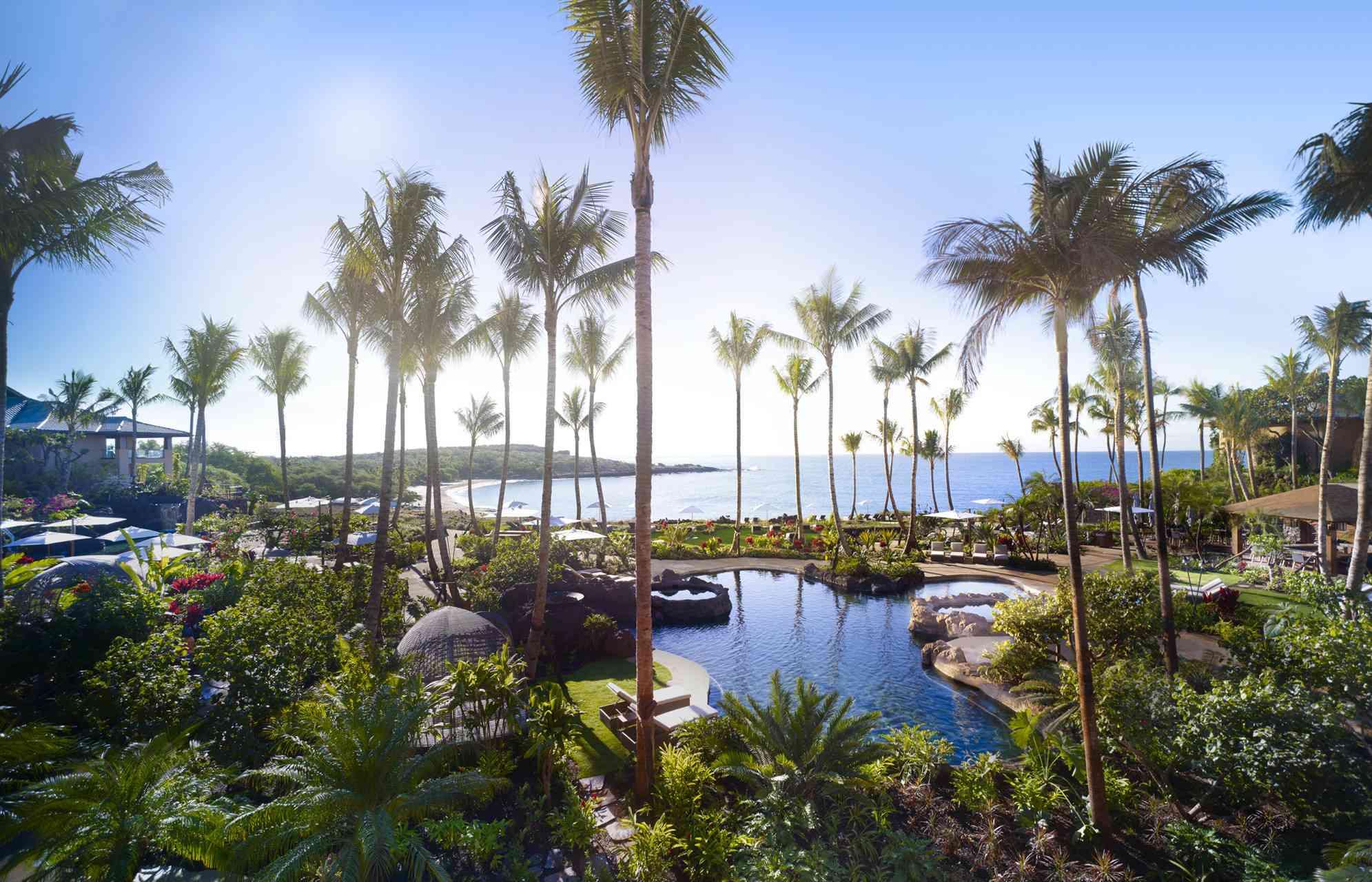 The pool at Four Seasons Resort Lanai, Hawaii