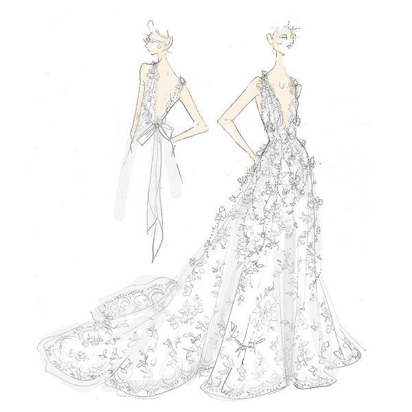 Marchesa Bridal Fashion Week Fall 2020 Sketch
