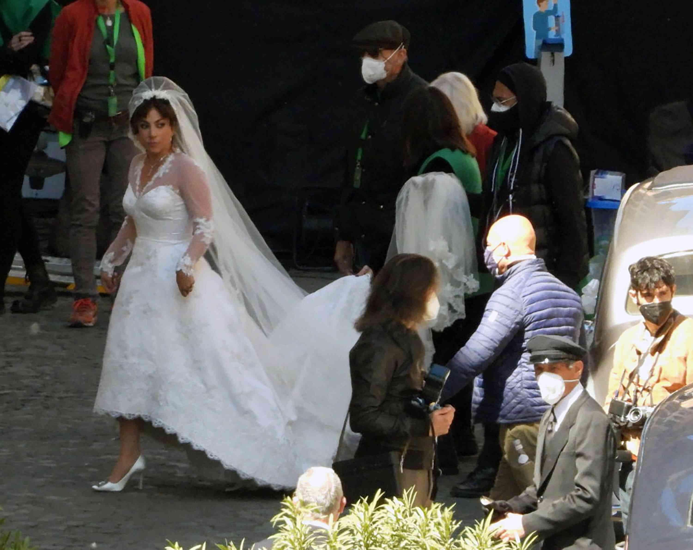 Lady Gaga wedding Dressd