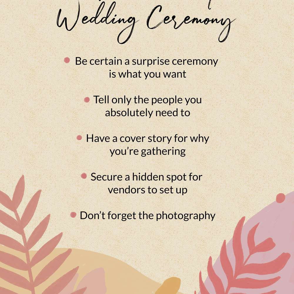 How to Plan a Surprise Wedding