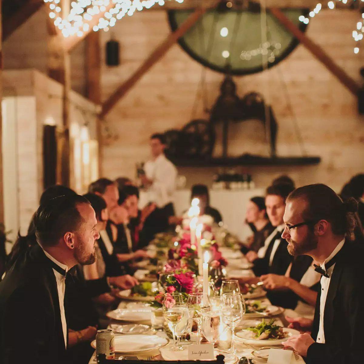 Family style serving dinner for intimacy