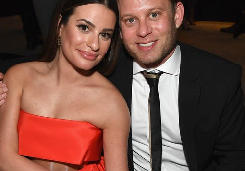 <p>Lea Michele and Zandy Reich attend a Golden Globe after party at The Beverly Hilton Hotel.</p>